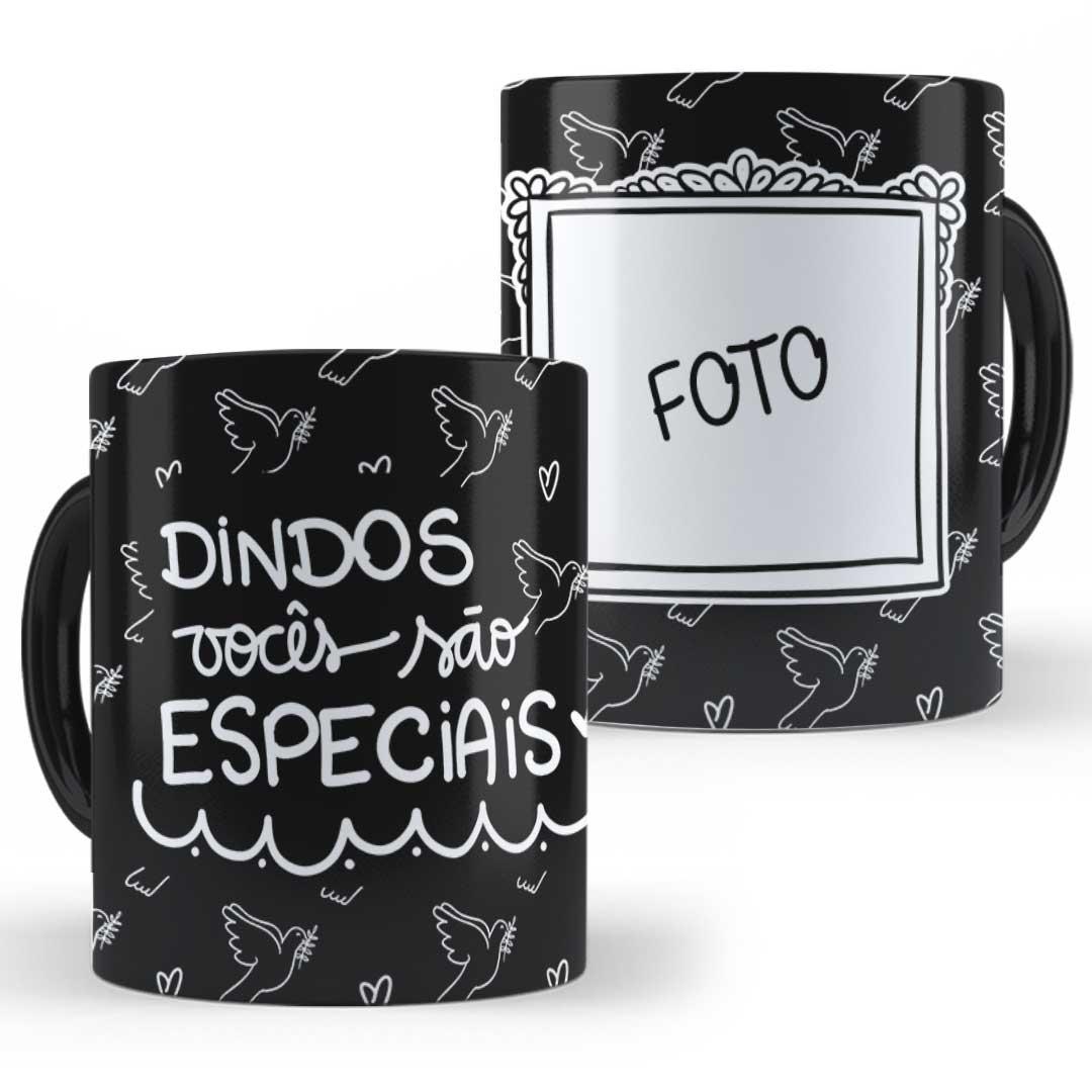 Caneca Porcelana com Foto - Dindos