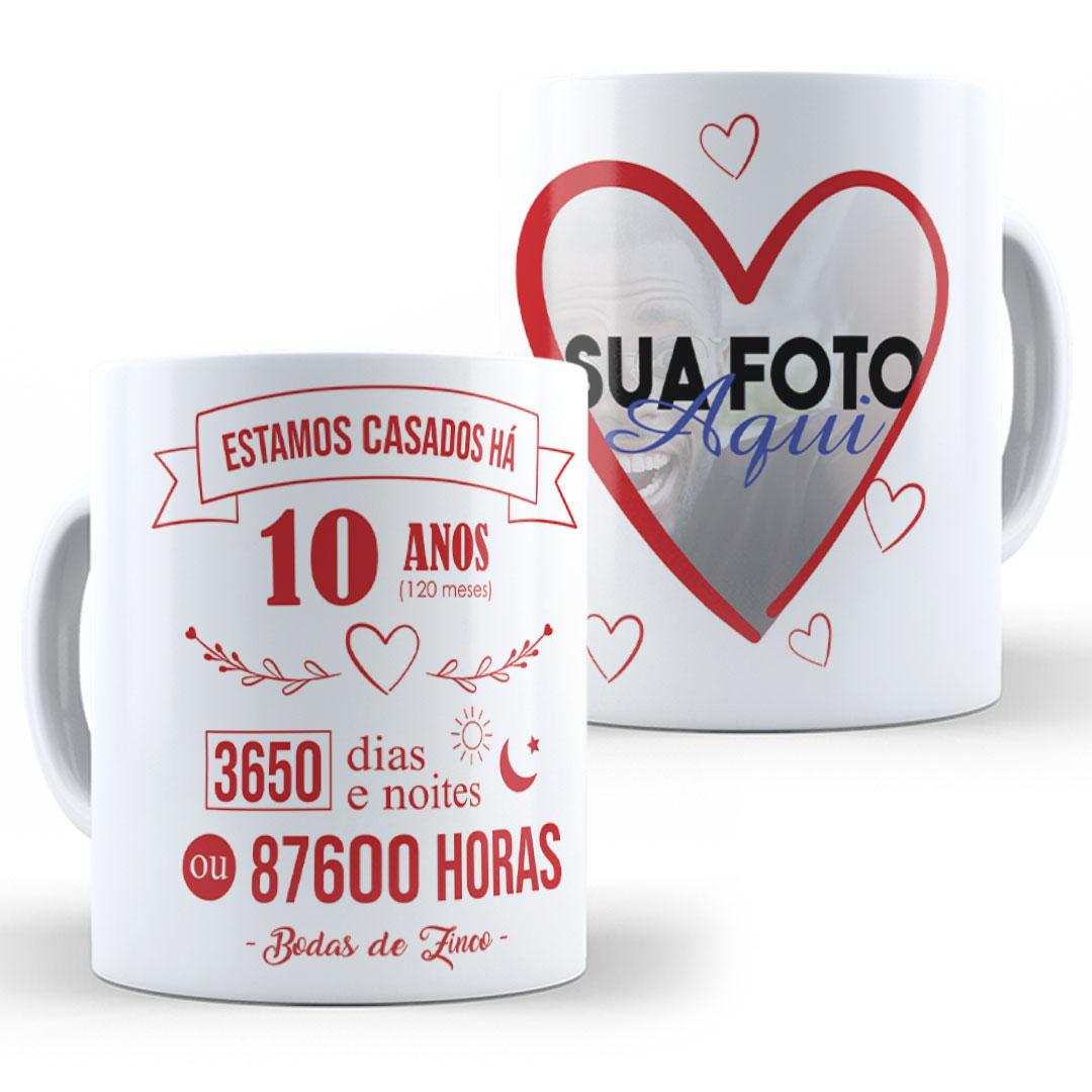 Caneca Porcelana com Foto - Juntos há...