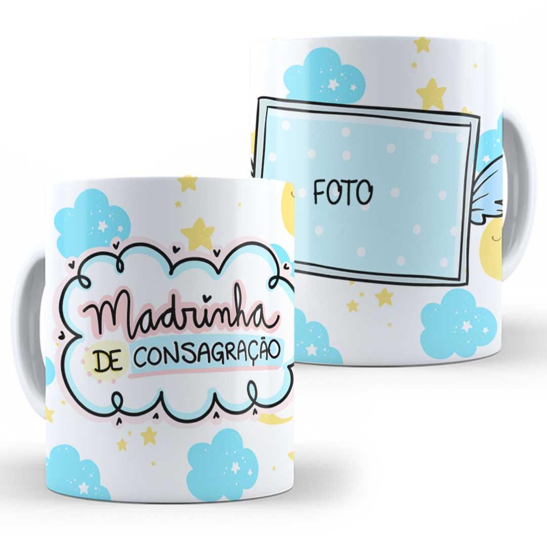 Caneca Porcelana com Foto - Madrinha de Consagração