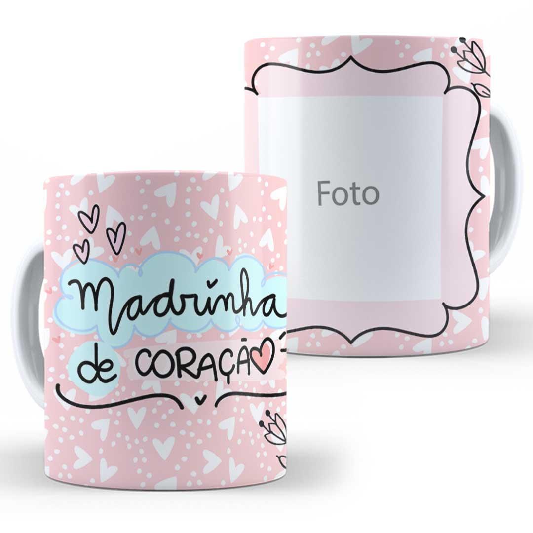 Caneca Porcelana com Foto - Madrinha do Coração