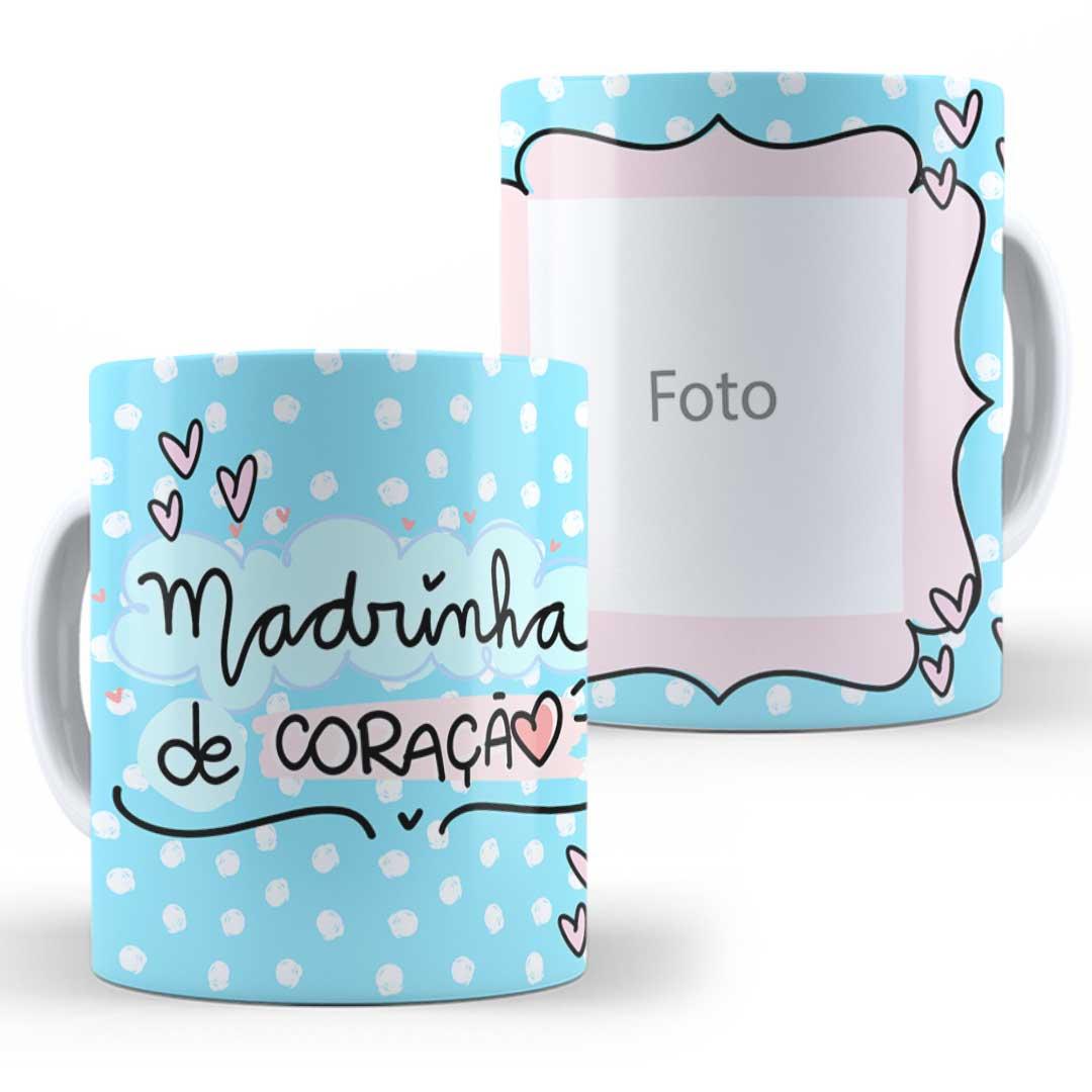 Caneca Porcelana com Foto - Madrinha do Coração II
