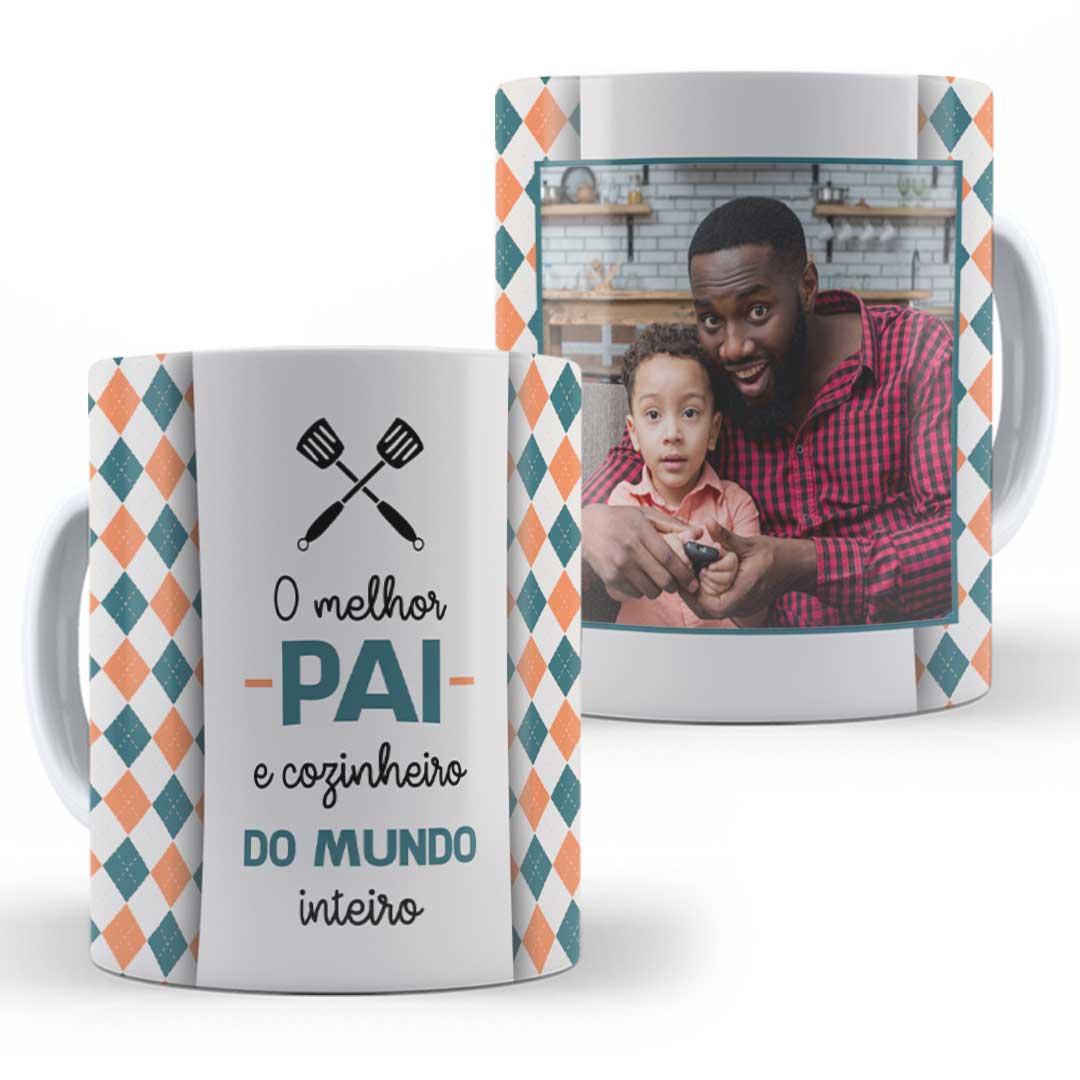 Caneca Porcelana com Foto - Melhor Pai e Cozinheiro