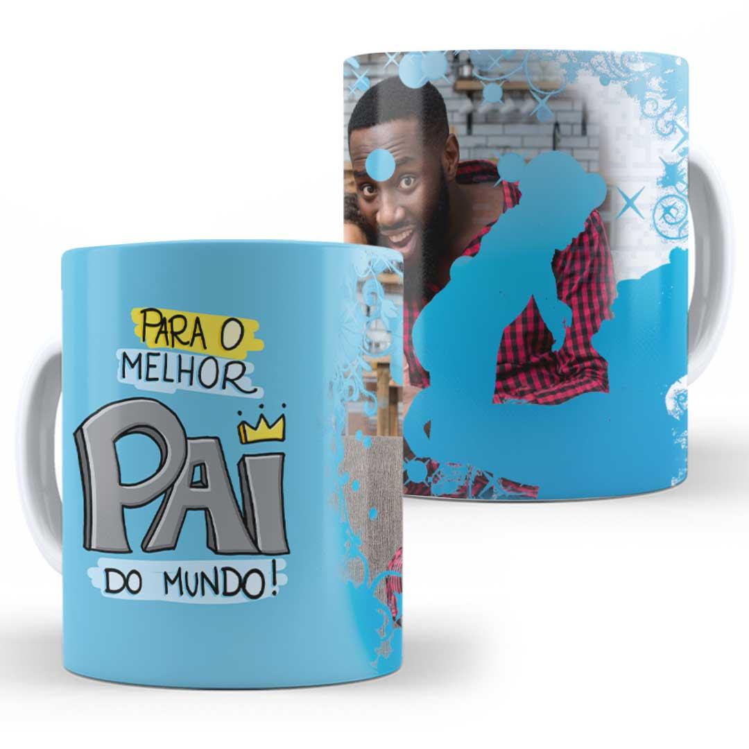 Caneca Porcelana com Foto - O Melhor Papai