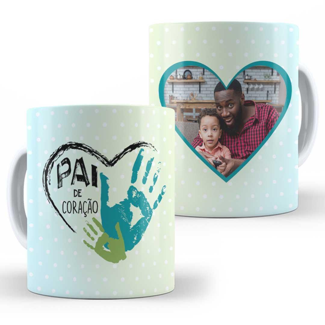 Caneca Porcelana com Foto - Pai de Coração