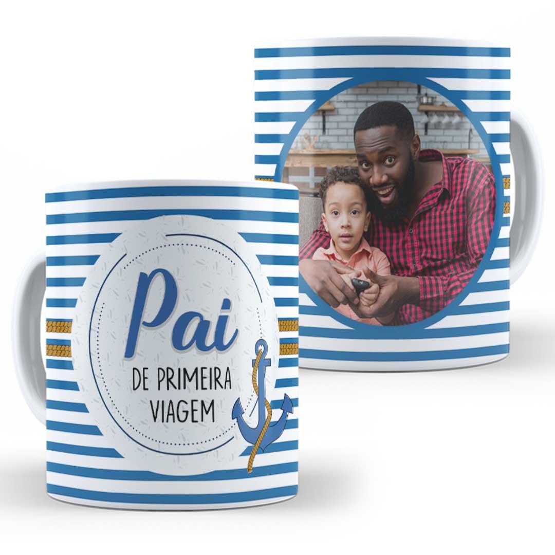 Caneca Porcelana com Foto - Pai de Primeira Viagem