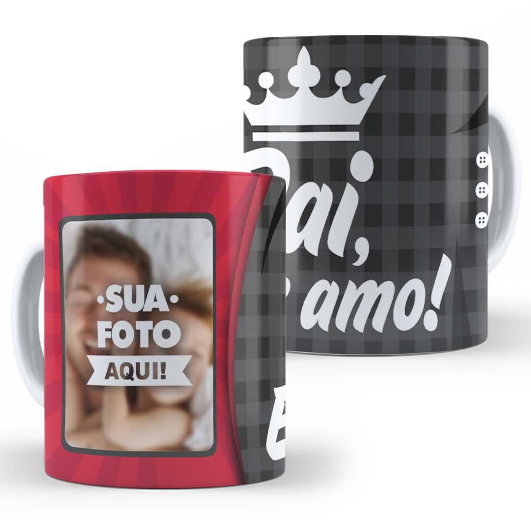 Caneca Porcelana com Foto - Pai, Eu te Amo Coroa