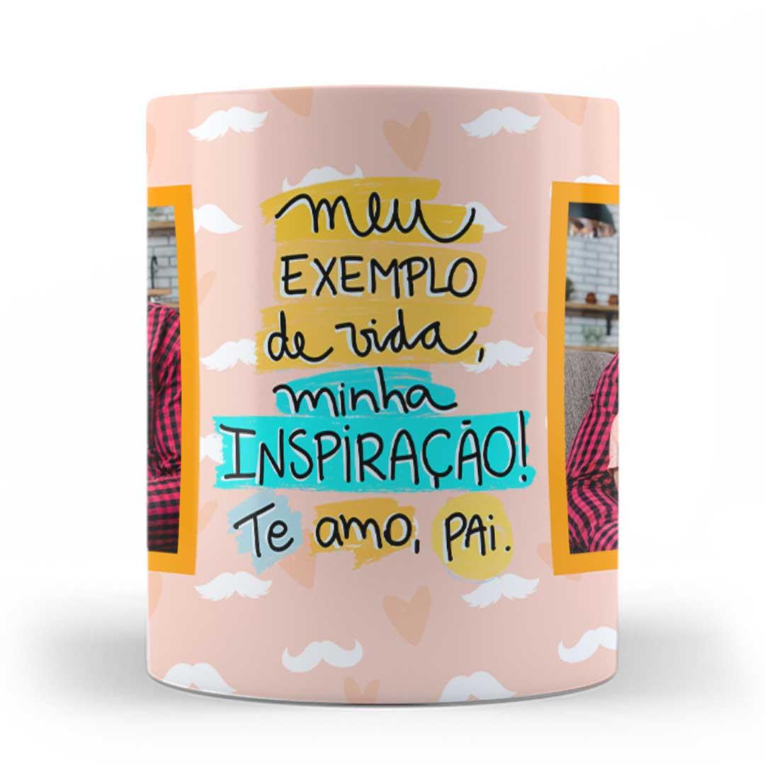 Caneca Porcelana com Foto - Pai, Minha Inspiração