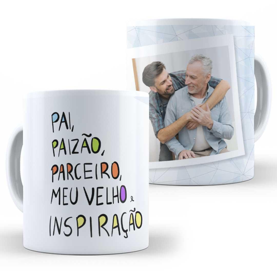 Caneca Porcelana com Foto - Pai, Paizão, Parceiro!