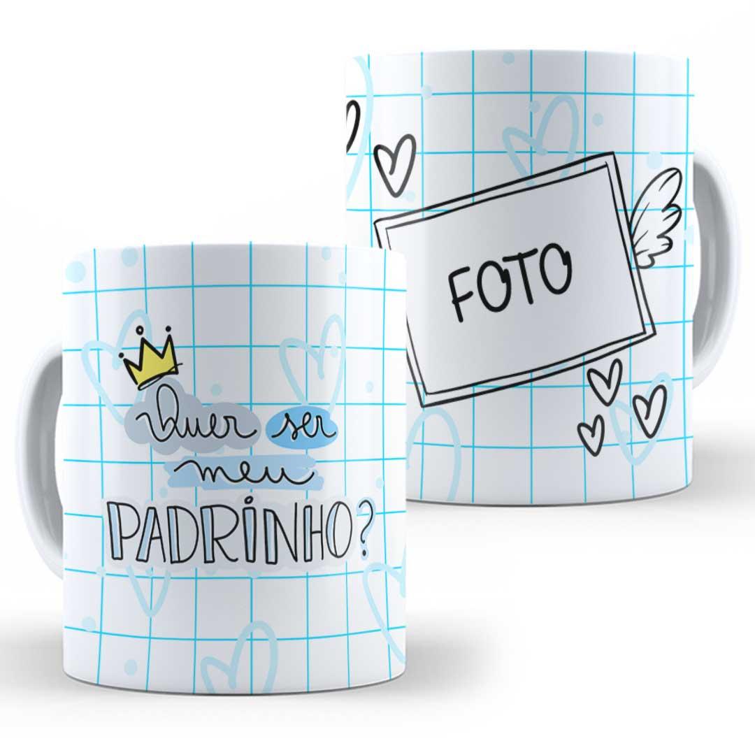 Caneca Porcelana com Foto - Quer Ser Meu Padrinho