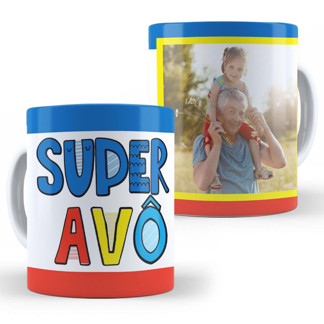 Caneca Porcelana com Foto - Super Avô