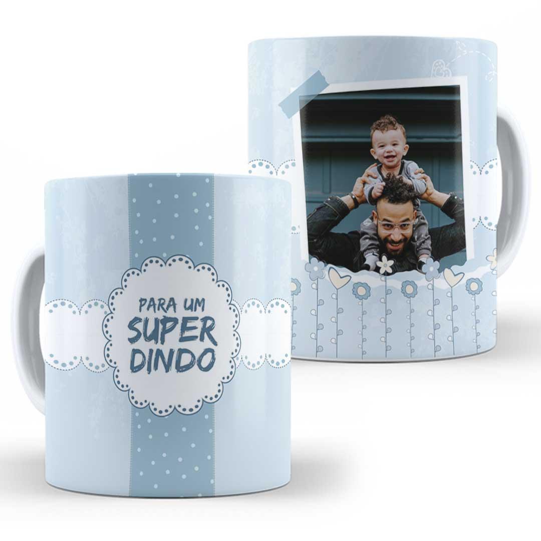 Caneca Porcelana com Foto - Super Dinda(o)