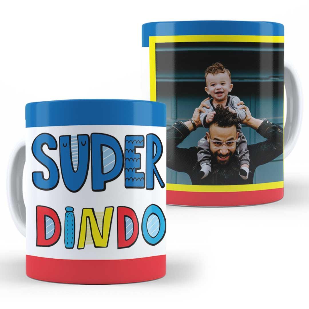 Caneca Porcelana com Foto - Super Dindo