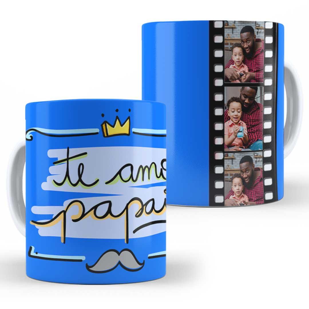Caneca Porcelana com Foto - Te Amo Papai