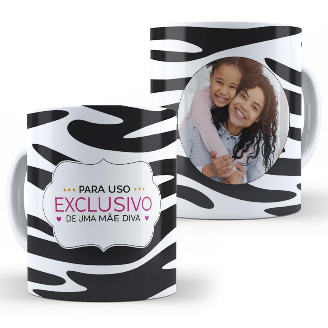 Caneca Porcelana com Foto - Uso Exclusivo Mãe Diva II