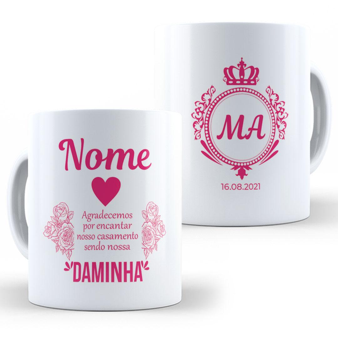 Caneca Porcelana com Nome - Daminha