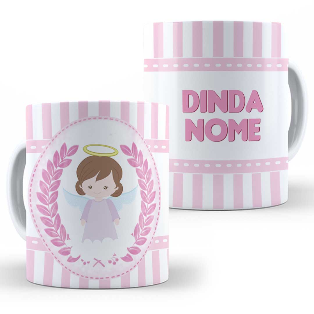 Caneca Porcelana com Nome - Dinda(o) I