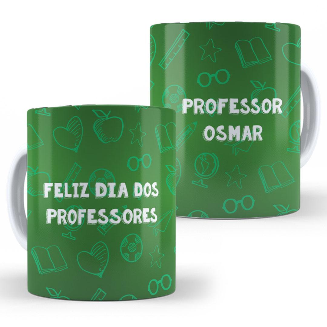 Caneca Porcelana com Nome - Feliz Dia dos Professores IV