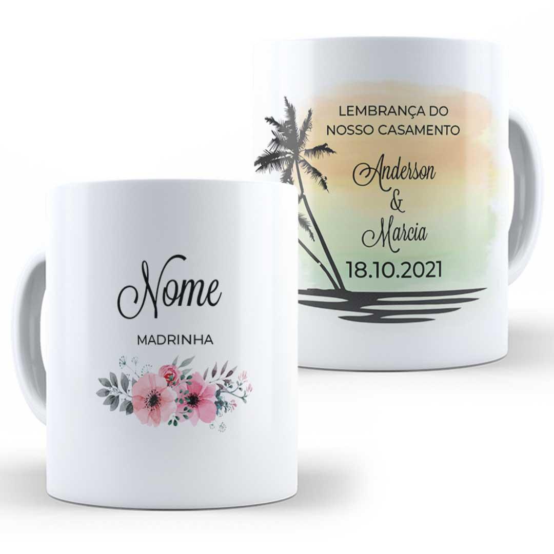 Caneca Porcelana com Nome - Lembrança do Nosso Casamento