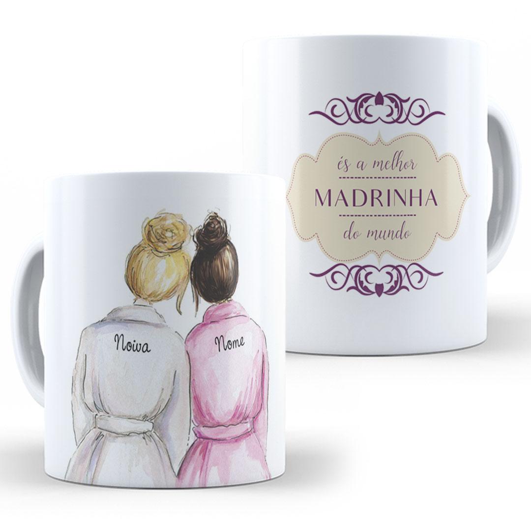 Caneca Porcelana com Nome - Madrinha III