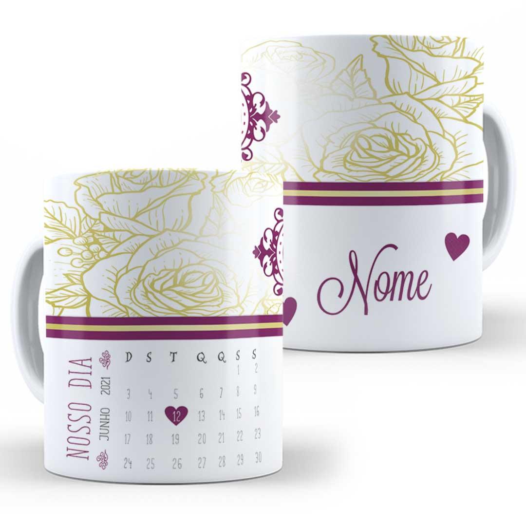 Caneca Porcelana com Nome - Nosso Dia II