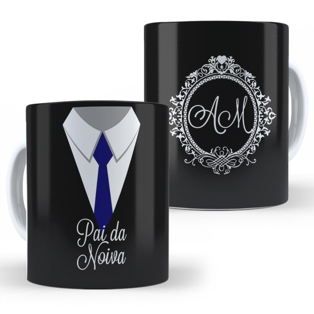 Caneca Porcelana com Nome - Padrinho de Casamento II