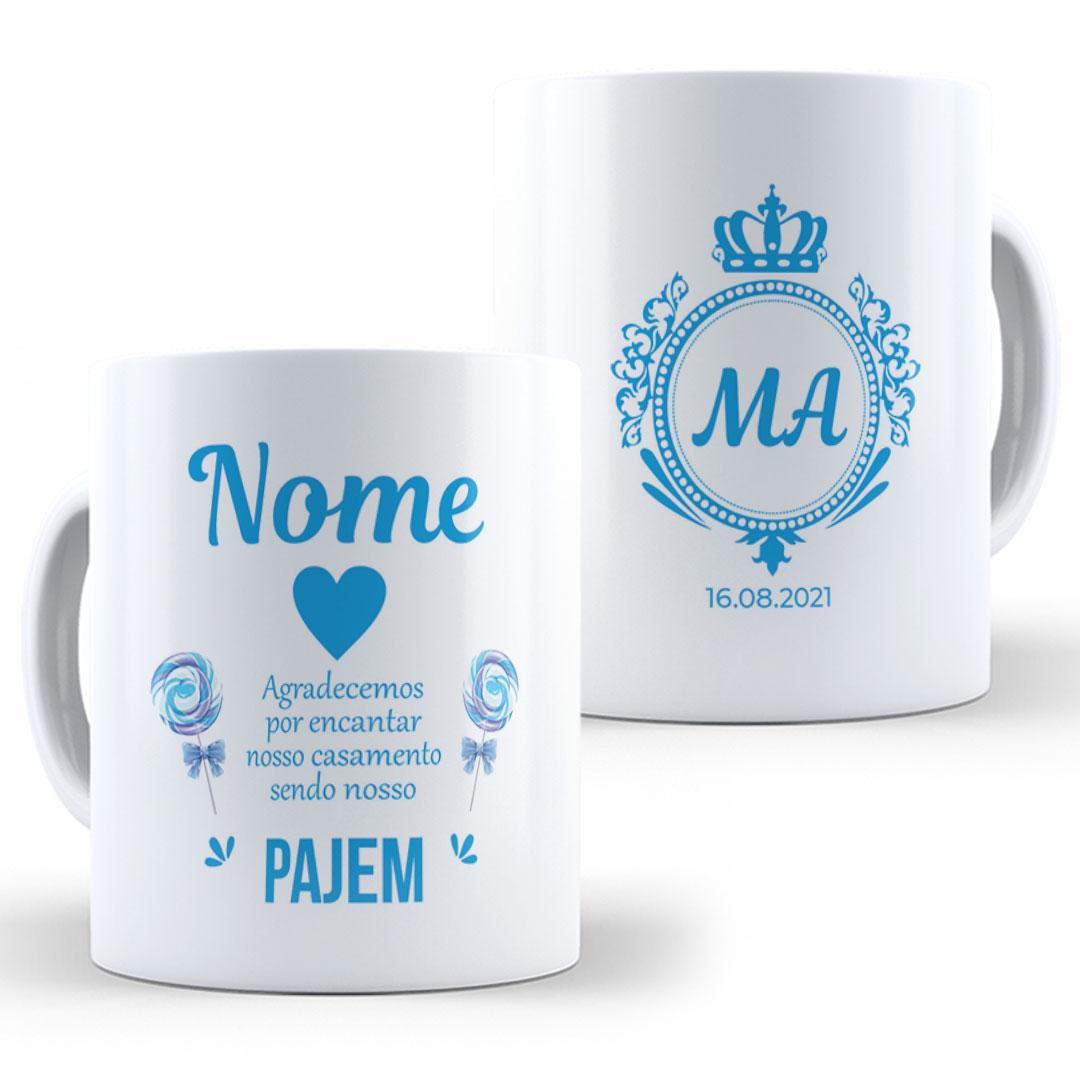 Caneca Porcelana com Nome - Pajem