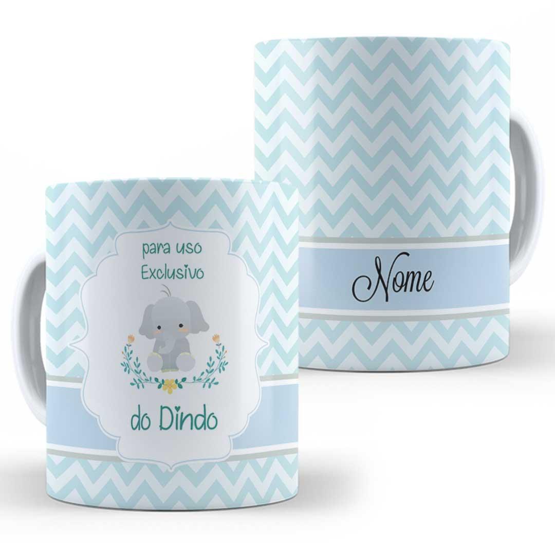 Caneca Porcelana com Nome - Uso Exclusivo do Dindo(a) III