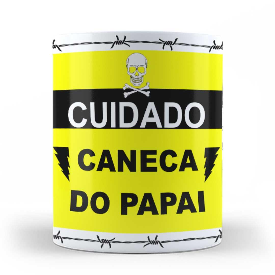 Caneca Porcelana - Cuidado, Caneca do Papai