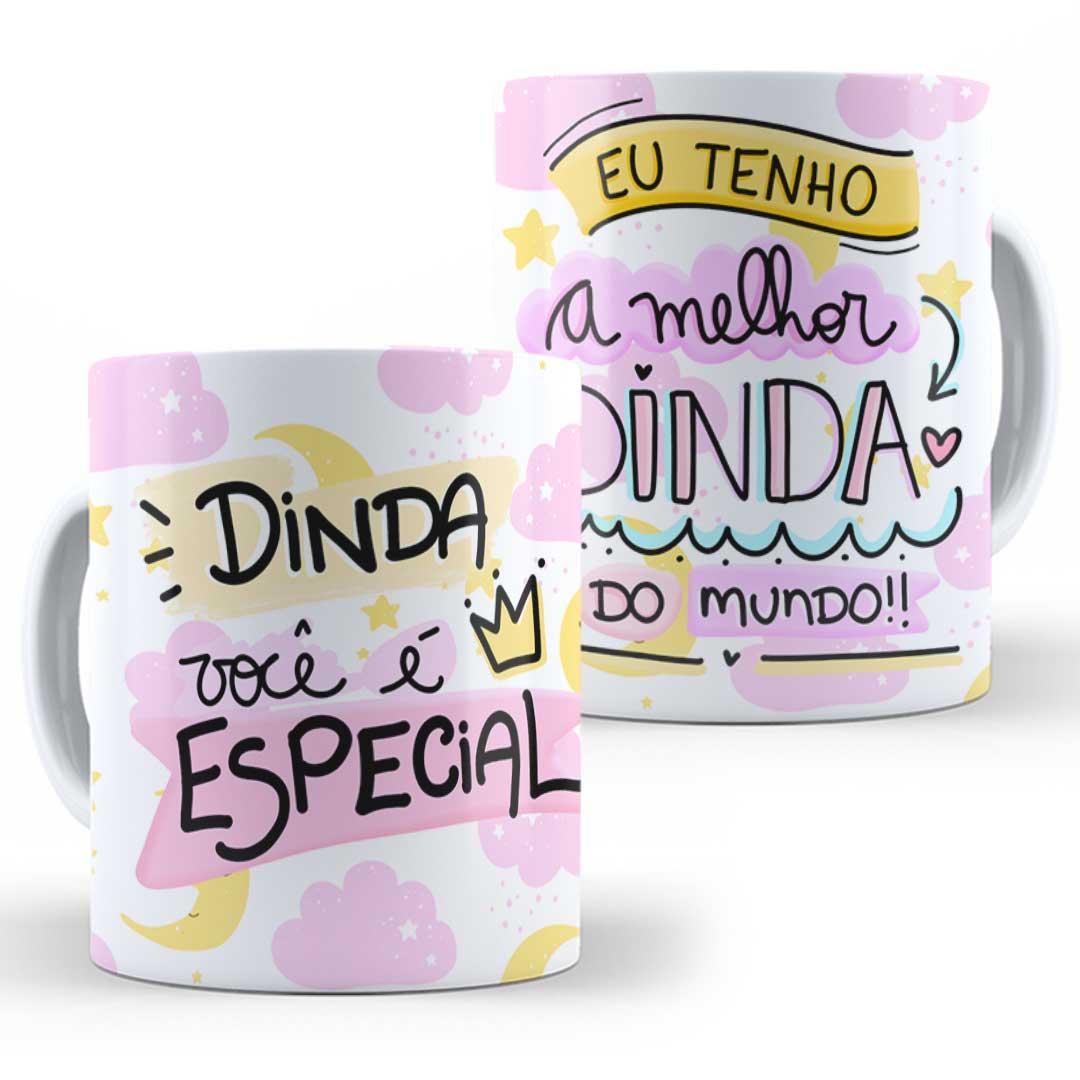 Caneca Porcelana - Dinda Especial
