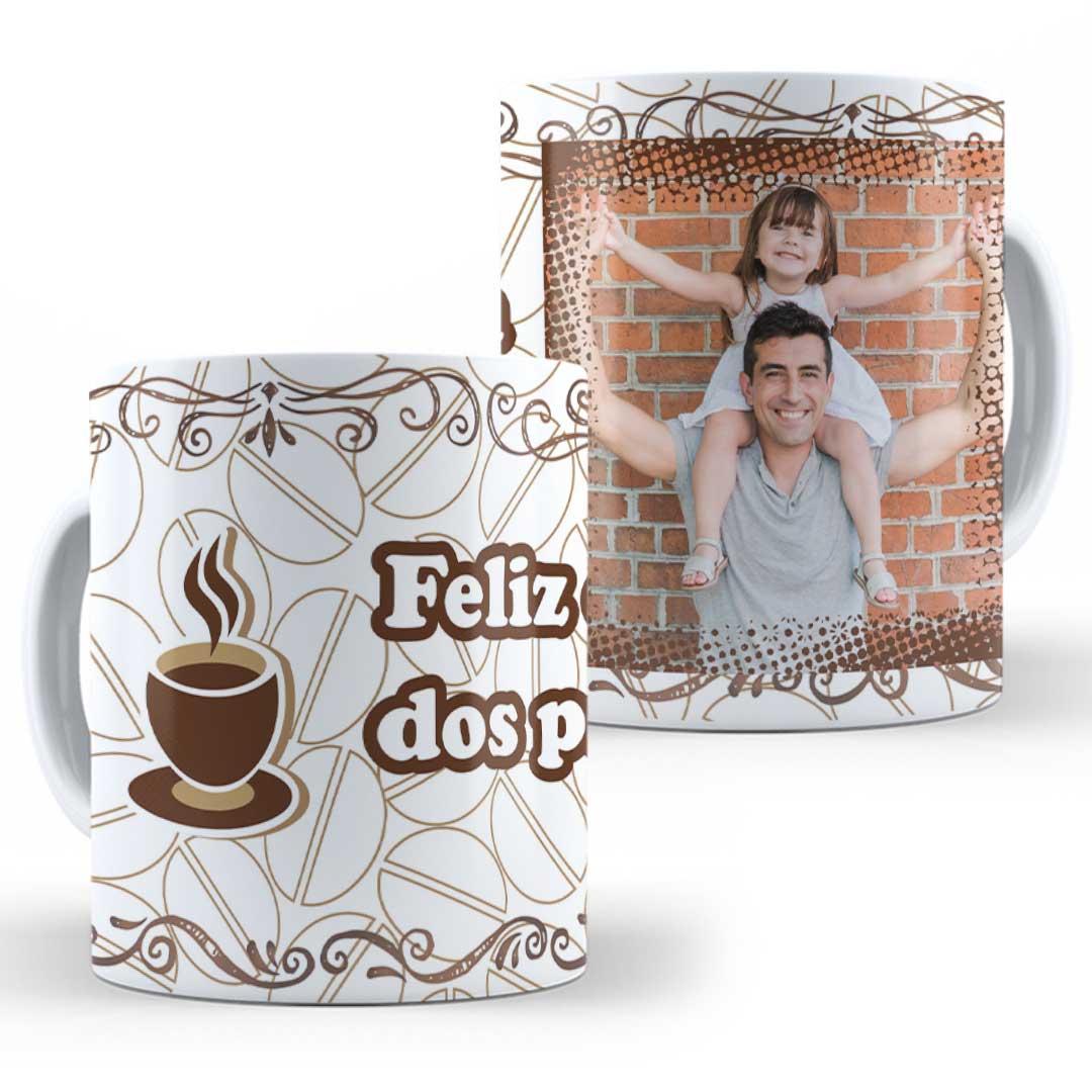 Caneca Porcelana com Foto - Feliz Dia dos Pais Café