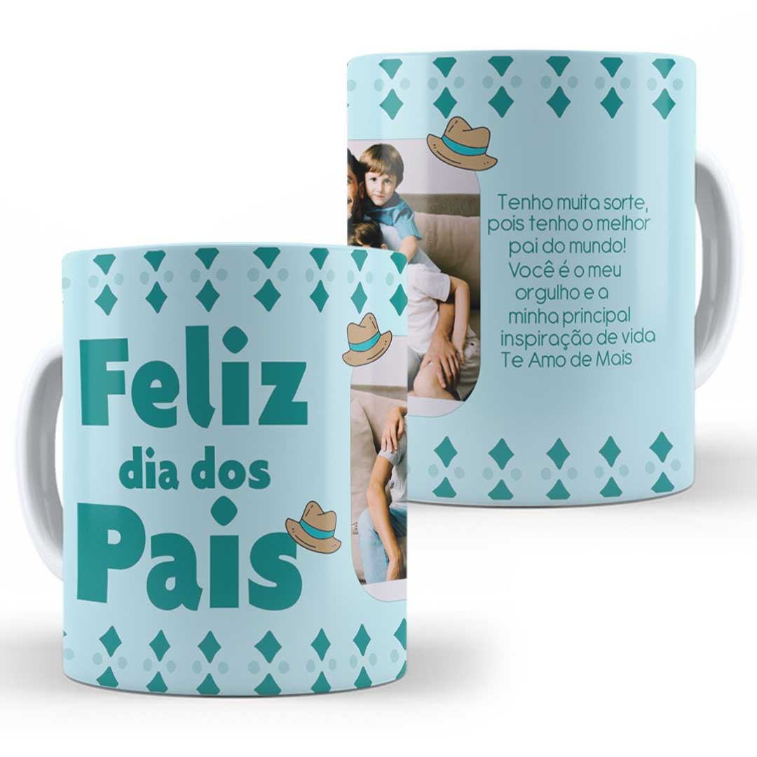 Caneca Porcelana com Foto - Feliz Dia dos Pais