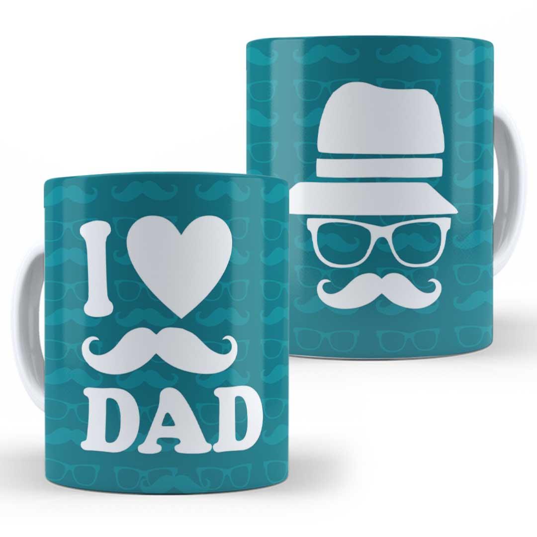 Caneca Porcelana - I Love Dad