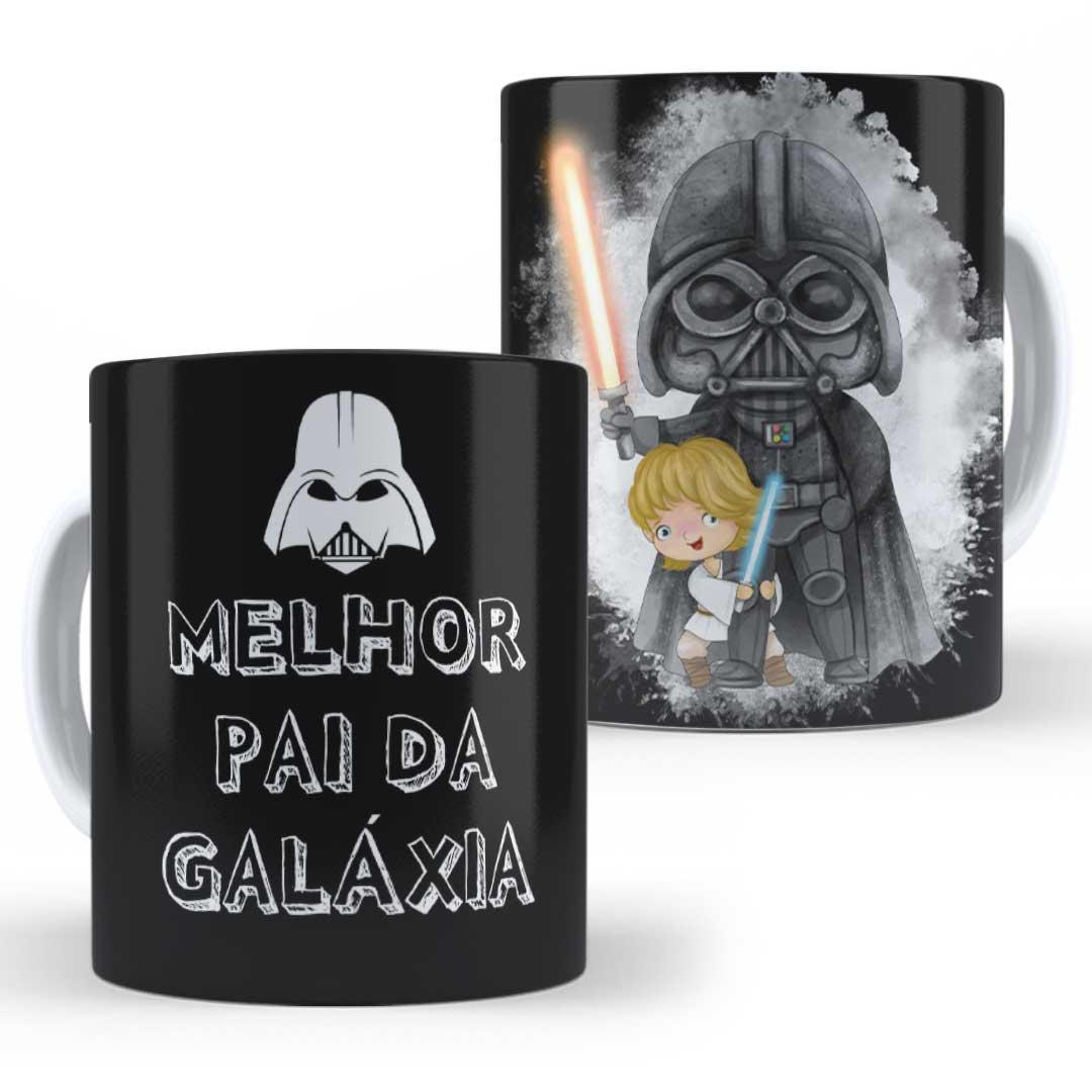 Caneca Porcelana - Melhor Pai da Galáxia Star Wars
