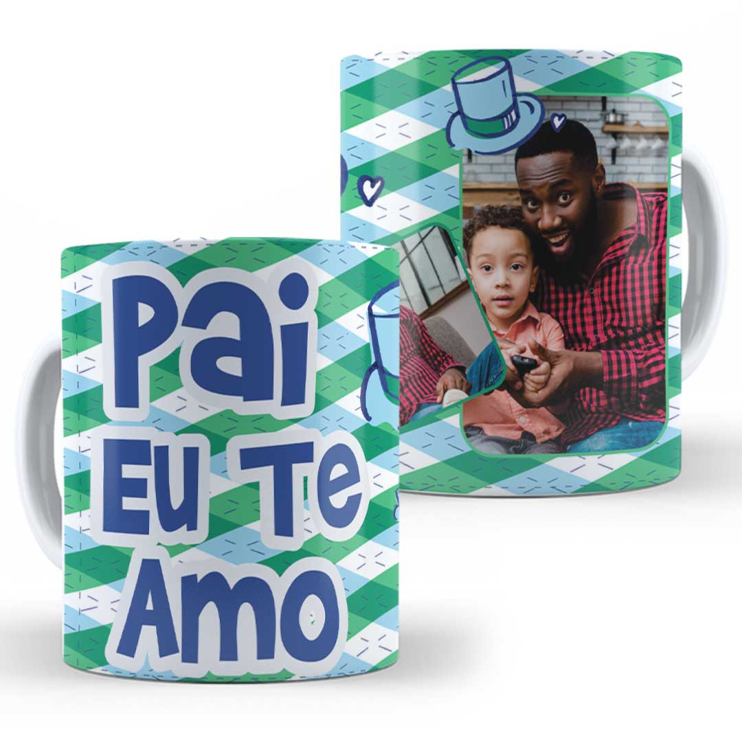 Caneca Porcelana com Foto - Pai, Eu te Amo!