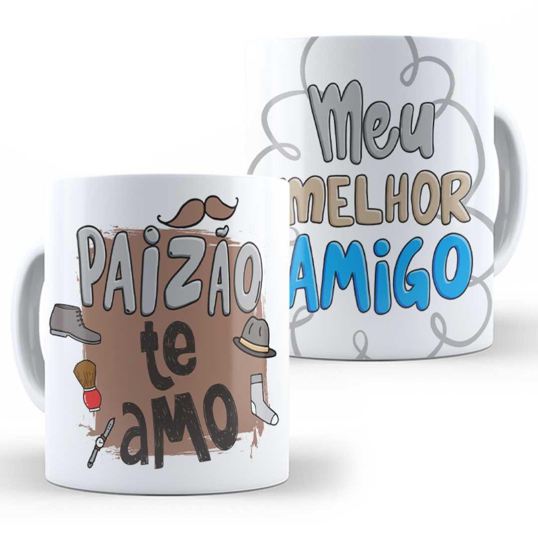 Caneca Porcelana - Paizão, te amo!