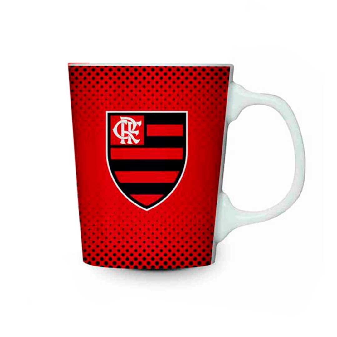 Caneca Porcelana Premium - Flamengo Vermelha 280ml