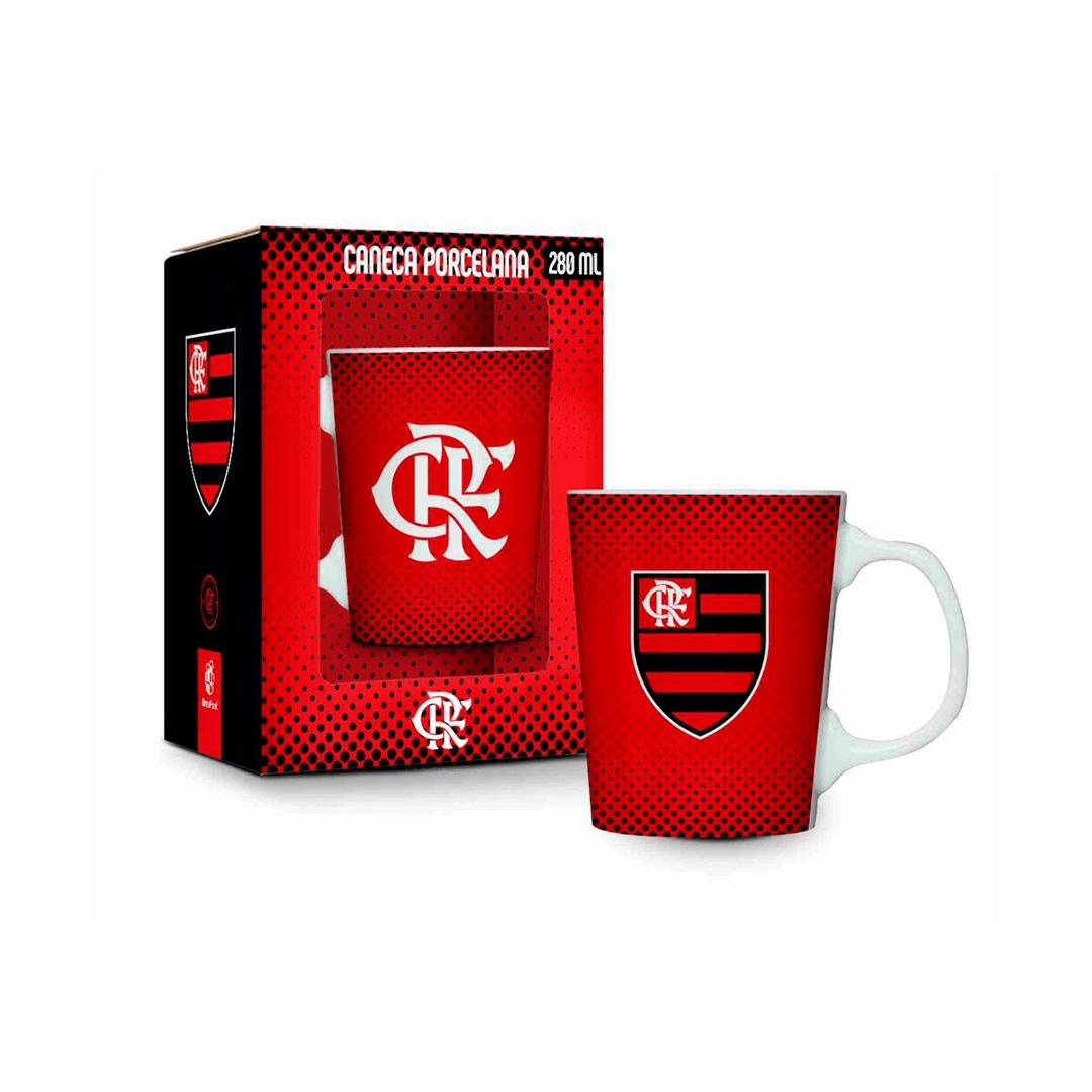 Caneca Porcelana Premium - Flamengo Vermelha