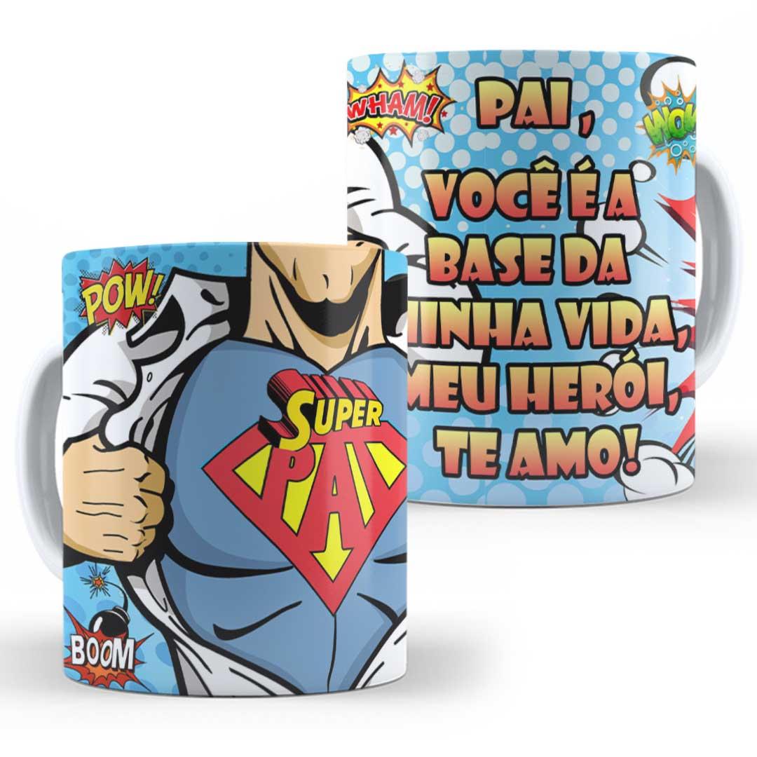 Caneca Porcelana - Super Pai!