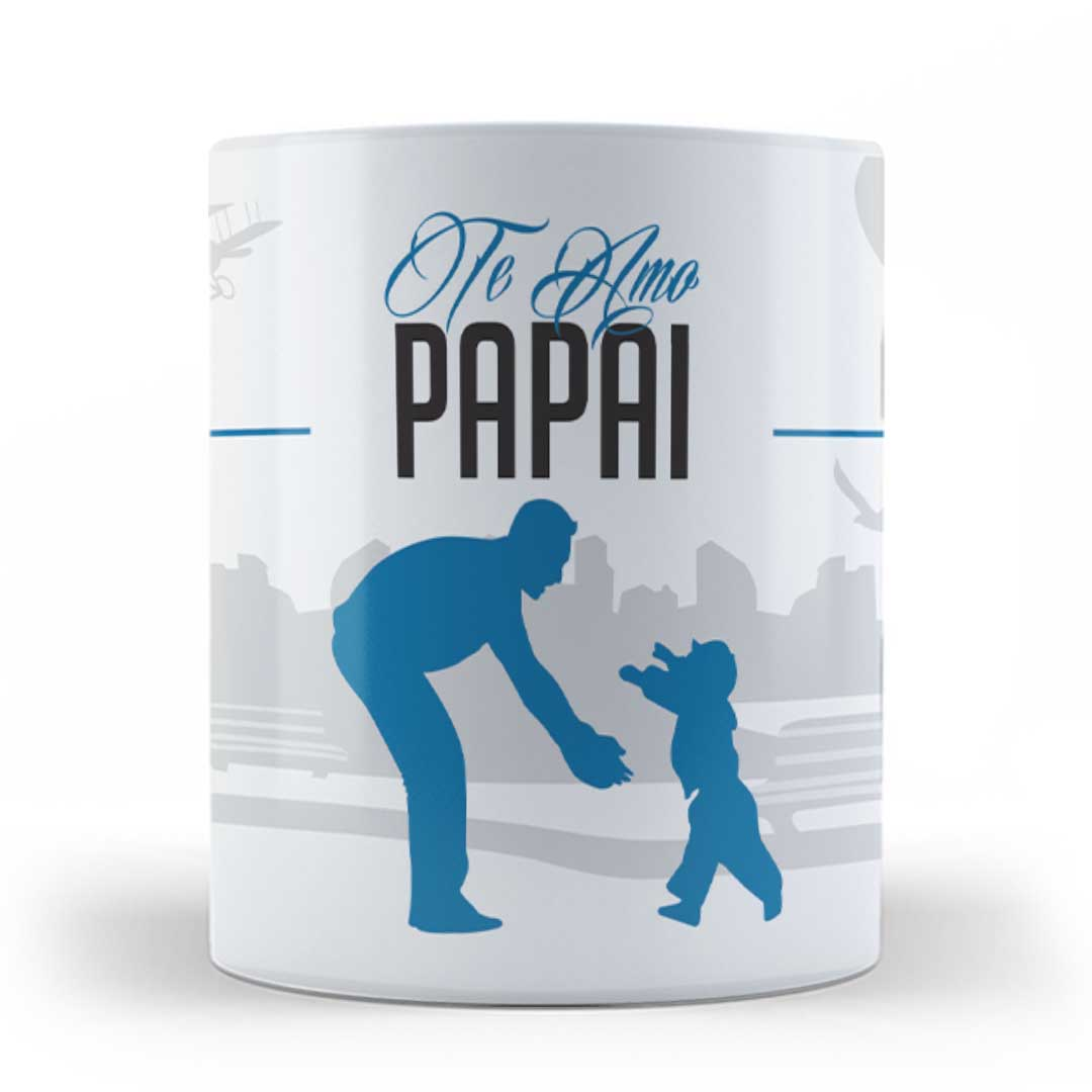 Caneca Porcelana - Te amo Papai