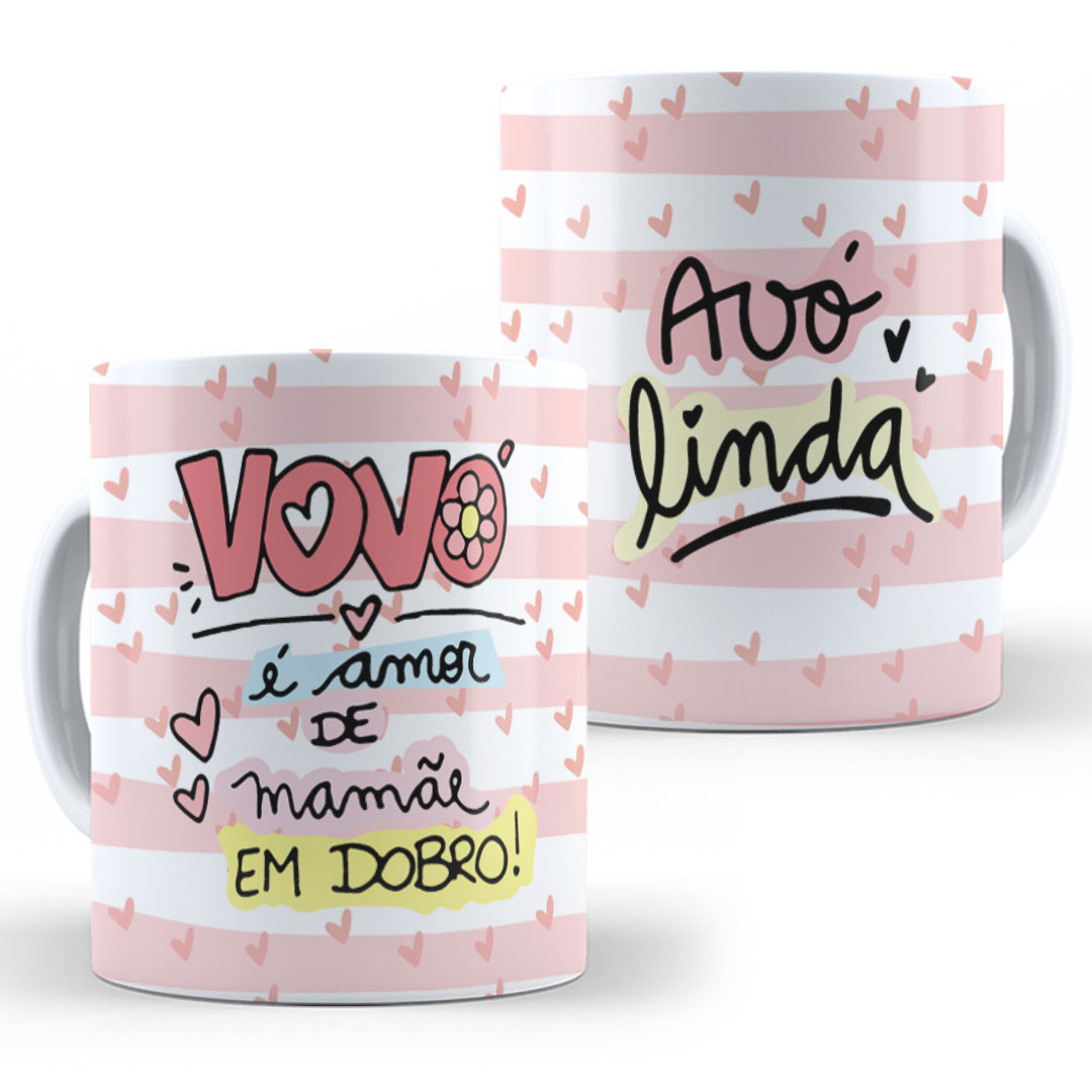 Caneca Porcelana - Vovó Amor