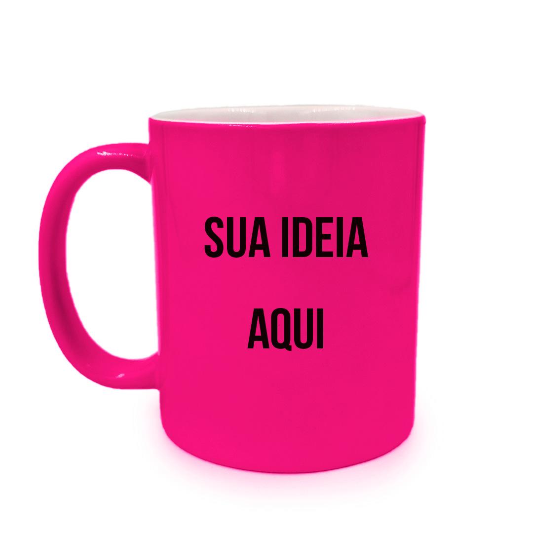 Caneca - Rosa Neon Personalizada