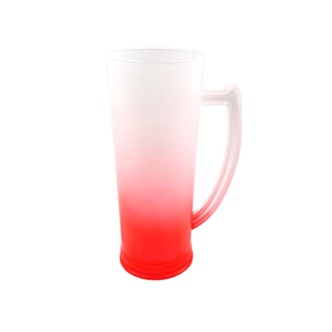 Caneco Long Drink com Alça - Degrade Vermelha