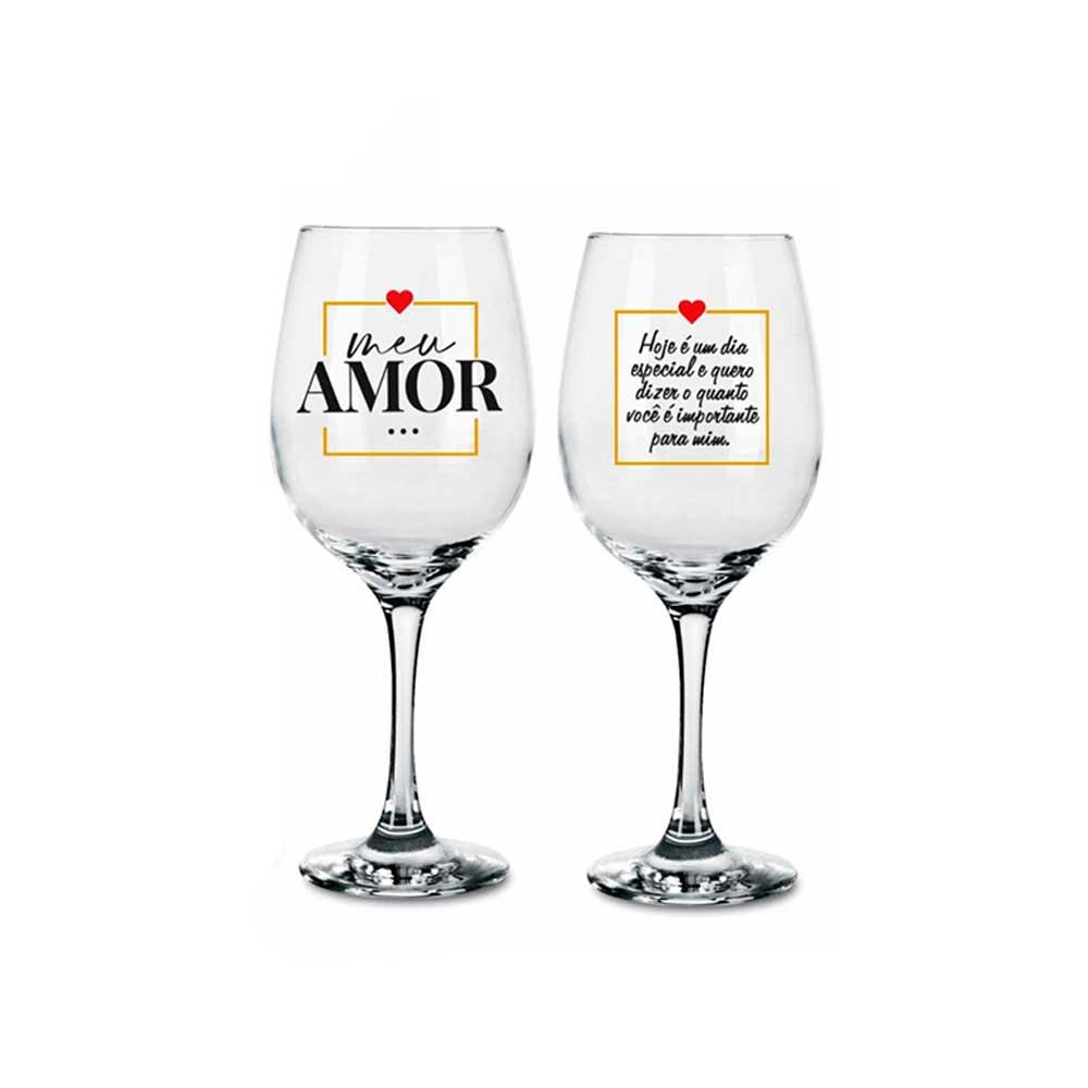 Conjunto 2 Taças de Vinho - Meu Amor Dia Especial
