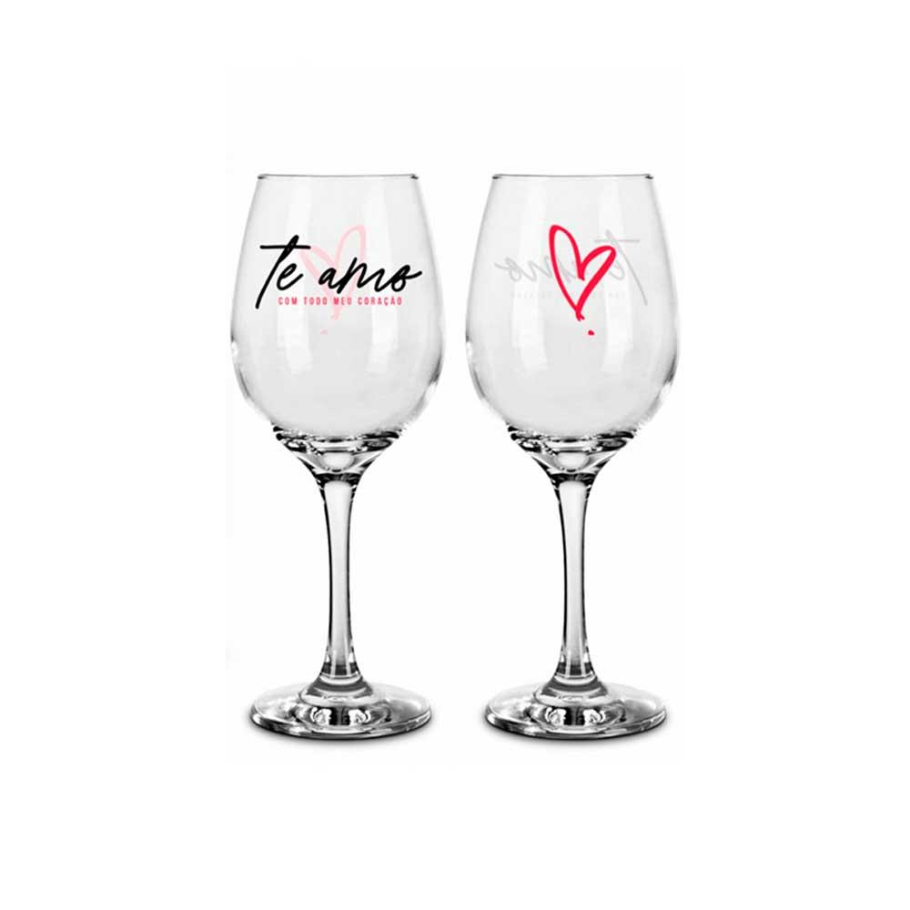 Conjunto 2 Taças de Vinho - Todo Meu Coração