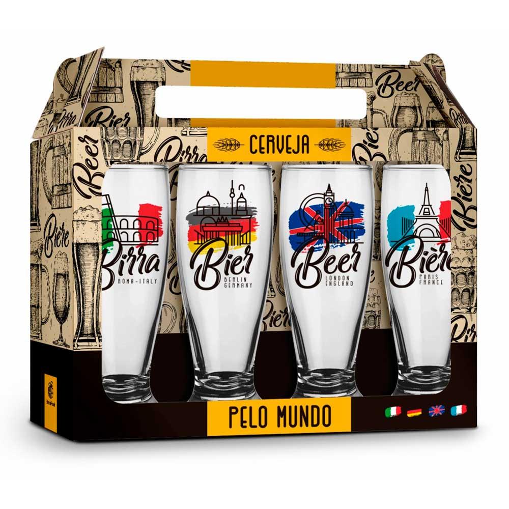 Conjunto 4 Copos Munich - Cerveja Internacional