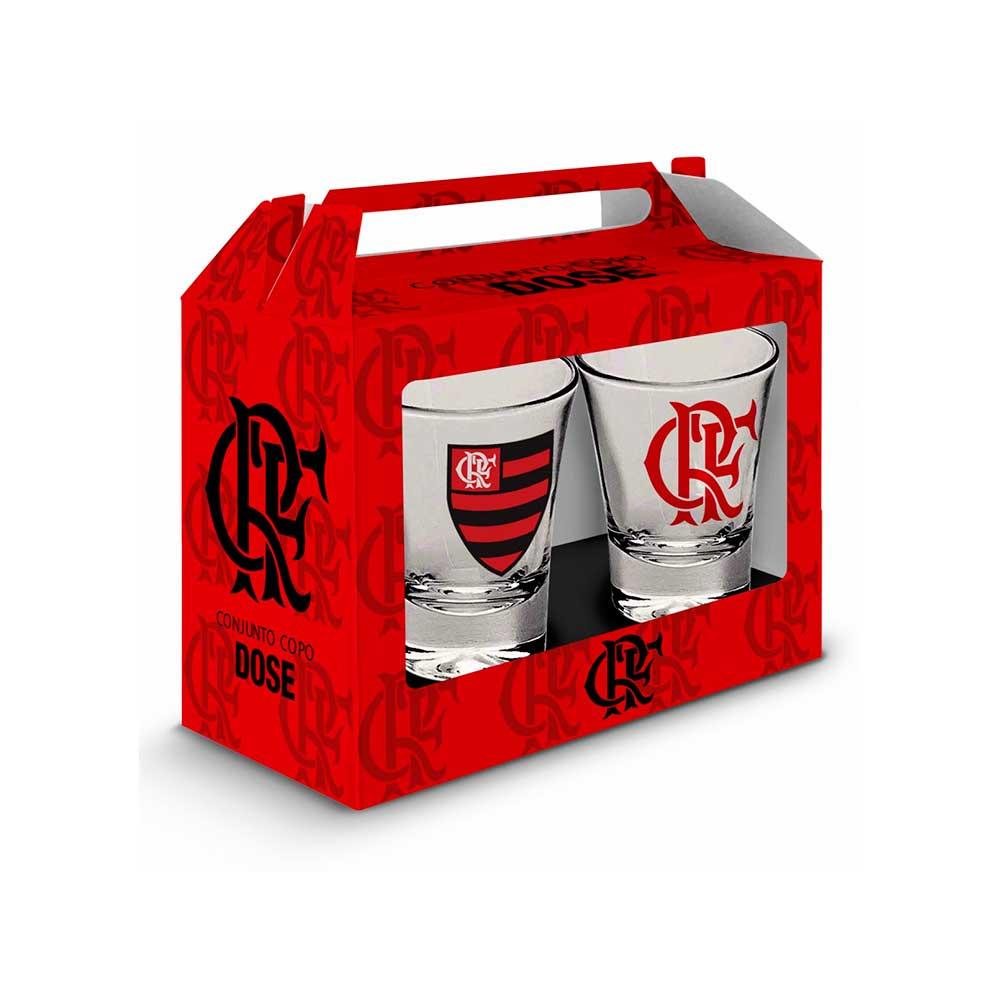 Conjunto Copos de Dose - Flamengo