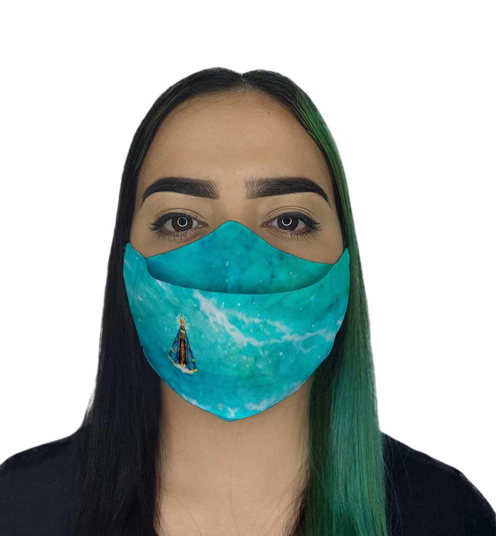 Máscara 3D Fé Nossa Senhora  Aparecida llI