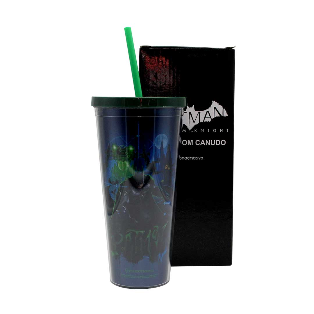 Copo com Canudo - Batman Arkham Knight