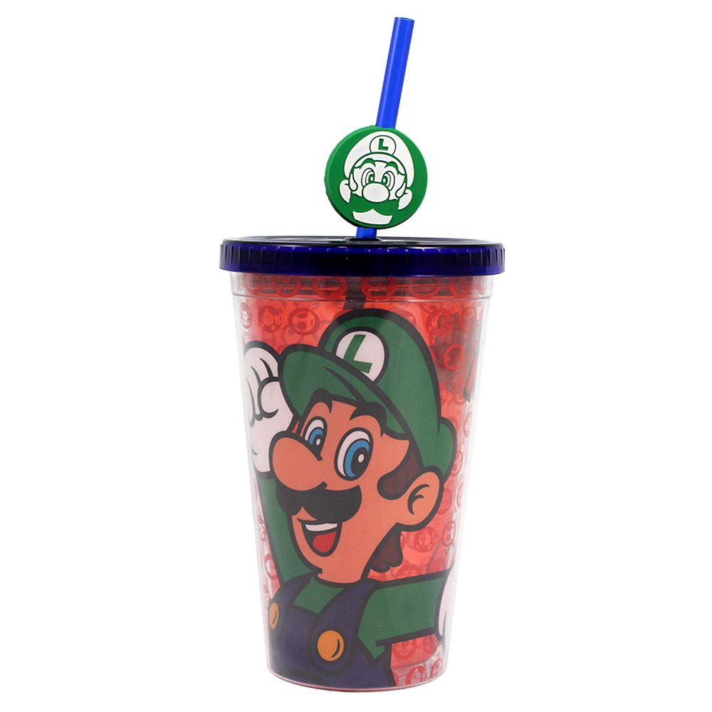 Copo com Canudo com Pingente - Luigi