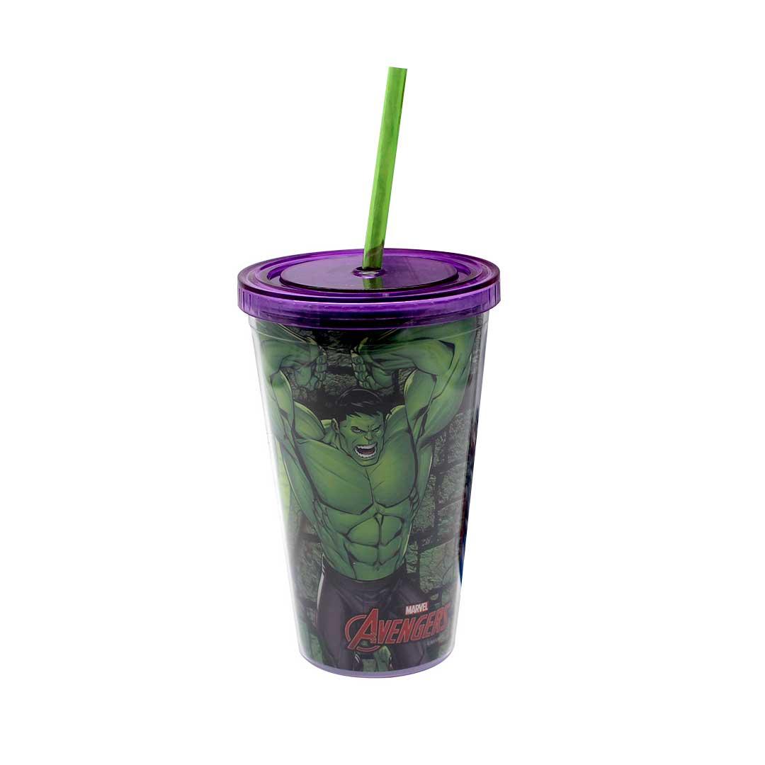 Copo com Canudo - Hulk